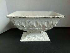 Fabulous Vintage Small Old Vintage Cast Iron Metal Urn Planter White