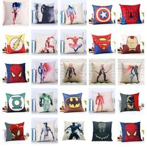 """18"""" Cushion Covers Super Heroes Sofa Throw Pillow Case Home Car Decor 45x45cm"""