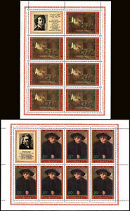 Russia 4511,4515 Sheets of 7/label,MNH.Rembrandt Paintings Russian Museums, 1976