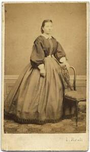 CDV Pistoia Portrait of an Italian woman 1860c Original albumen photo Reali S148