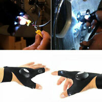 Finger Gloves with LED Light Flashlight Tool Gear Rescue Night Fishing Outdoor-