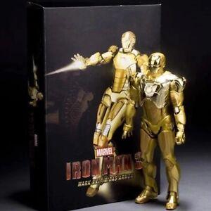 Golden Iron Man Action Figure Toy Model Super Robot Costume Gold Color 18 cm