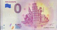 BILLET 0  EURO MINI EUROPE BELGIQUE   2018  NUMERO 10000 DERNIER