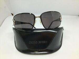 Vintage GEORG JENSEN Denmark Polarized SUNGLASSES Designer Luxury GJS 1011 Black