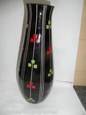 23292 Art  Deco Vase Schwarzglas Manganglas 28 cm Hyalith black glass Glas