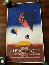 "RARE 1981""ALBUQUERQUE INTERNATIONAL BALLOON FIESTA"" POSTER NUMBERED 2358/5000"