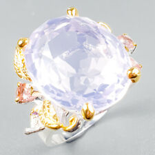 Top AA27ct+ Natural Lavender Amethyst 925 Sterling Silver Ring Size 8/R122092