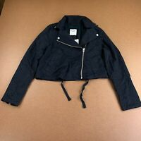 Abercrombie & Fitch Women's Size Small Black Lightweight Cropped Jacket NWT
