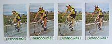 Equipe KAS 1978, 4 cartes Cyclisme. Pujol, Cima, Andiano, Fernandez Ovies...