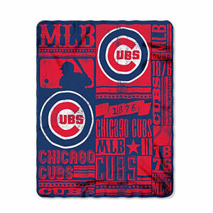 "Brand New MLB Chicago Cubs Soft Fleece Throw Blanket 50"" X 60"""