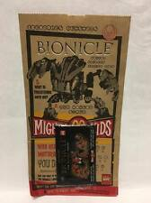 Bionicle McDonalds Happy Meal Bag with Cards