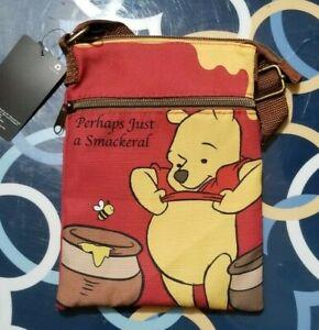 WALT DISNEY WINNIE THE POOH LOUNGEFLY BRAND NEW W/ TAG CROSSBODY PASSPORT BAG