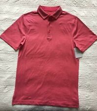 New Mens Stretch Golf Polo Shirt Pink Size Small