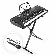 Hamzer 61 Key Electronic Piano Electric Organ Music Keyboard with Stand - Black