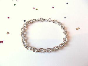 LADIES 9ct White Gold Plate Bracelet