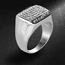Struttura Men's Pave Stainless Steel Ring ~ Size 11