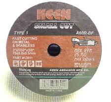 "KEEN 3"" x 1/32"" x 3/8"" T1 High Speed Cut-Off Wheels for Metal & Stainless 50pc"
