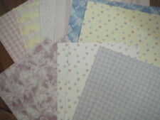 Pretty Pastles Backing Papers deal card makers / scrapbooking 12 SHEETS
