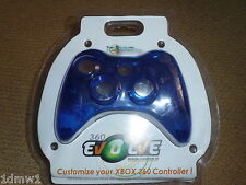MICROSOFT XBOX 360 CONTROLLER FRONT FASCIA COVER NEW! Clear Blue Replacement Mod