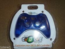 Controller XBOX 360 MICROSOFT FASCIA ANTERIORE COPERCHIO NUOVO! CLEAR BLUE RICAMBIO MOD