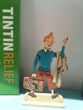 Figurine métal Tintin valise MOULINSART