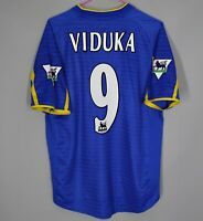 LEEDS UNITED ENGLAND 2001/2003 AWAY FOOTBALL SHIRT JERSEY SIZE M #9 VIDUKA