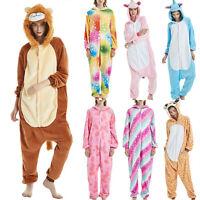 Adult Womens Unicorn Unisex Cartoon Animal Cosplay Pajamas Sleepwear Costume