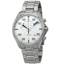 Reloj de Cuarzo Hamilton H76712151 Hombre Plata de piloto de color caqui