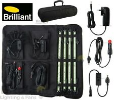 NEW BRILLIANT 4 BAR 12v LED PORTABLE OUTDOOR DIY STRIP LIGHT CAMPING KIT 19672