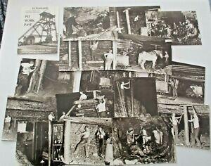 THE YORKSHIRE MINER SET OF 16 HISTORICAL POSTCARDS - PIT WORK PAST