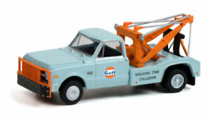 GREENLIGHT 1:64 GULF OIL 1969 CHEVY C30 DUALLY TOW TRUCK WRECKER  [PRESALE]