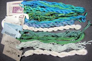 10x Needlepoint/Embroidery THREAD THRD GATHERER/CARON floss&pearl silk-ZZ27