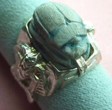 Handcrafted Egyptian Scarabs Sterling Silver 925 Cobra Ring skaisJL17