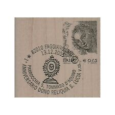 Mounted Rubber Stamp, Letter, Postcard, Cancelled Stamp, Postmark, Italian