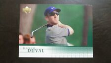 2001 Upper Deck David Duval PGA Golf Card #2