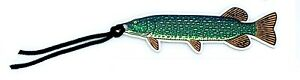 Wooden Pike Fish Fishing Angling Dad Son Bookmarks Great For Adult and Children