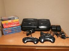 Sega CD & Genesis Model 2 Combo System Console Bundle w/2 Controllers and 8 Game