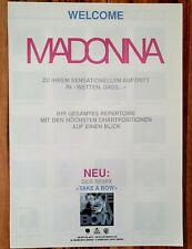 """Welcome Madonna-  WEA Promo Flyer zum Auftritt in """"Wetten, Dass..."""" Sammelobjekt"""