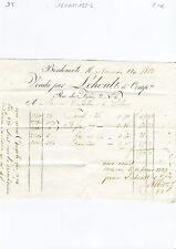 Dépt 33 - Bordeaux - Vieille Facture d'un Commerçant Bordelais du 16/11/1822