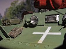 KV1 KV-1 WWII RC Panzer Fahrer Sicht Luke Umbau Bausatz Zubehör Metall Kit 1/16