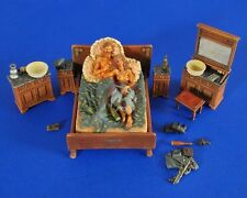 "Verlinden 1/35 ""Rest and Recreation"" German Soldier in Bed with a Girl WWII 2474"