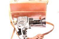 Vintage Paillard Bolex Zoom Reflex Film Camera with Case