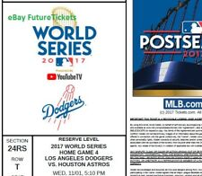 Pair of Houston Astros @ LA Dodgers World Series GAME 7 MLB Official PDF Stubs