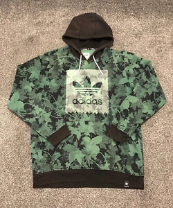 Adidas Originals Skateboarding Hoodie Mens Large Camouflage With White Logo Rare