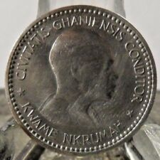 CIRCULATED 1958 1 SHILLING GHANA COIN! (12818)