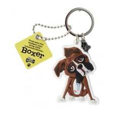 Wags & Whiskers Top Dogs Boxer Dog Keyring 00204000006