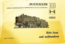 Märklin Manuel Description 3003 68 303 YN 0269 RU Å