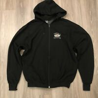 Pro Player Phoenix Coyotes NHL Mens 2XL Black Zip Up Hoodie Sweatshirt