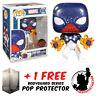 FUNKO POP MARVEL SPIDER-MAN CAPTAIN UNIVERSE EXCLUSIVE + FREE POP PROTECTOR