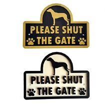 Rhodesian Ridgeback - Please Shut The Gate - 3D Dog Plaque - Garden Door Sign